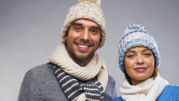 Thumbnail for Happy Couple in Winter Clothes 2