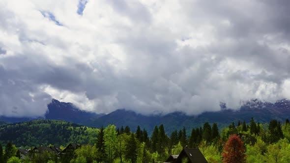 Thumbnail for Alpenlandschaft mit Haus und Bäumen