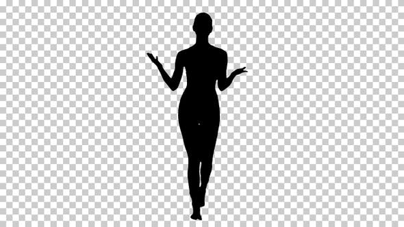 Thumbnail for Silhouette Beautiful young yoga instructor talking to camera