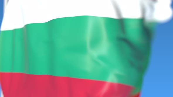 Flying National Flag of Bulgaria