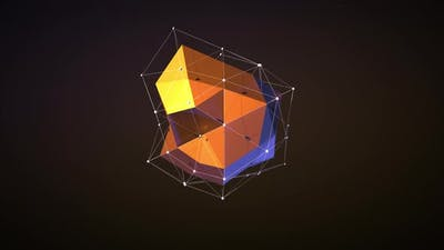 Abstract Geometric Polygonal Shape Changes Size