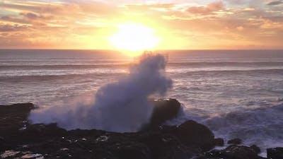 Power of Ocean Waves New Zealand