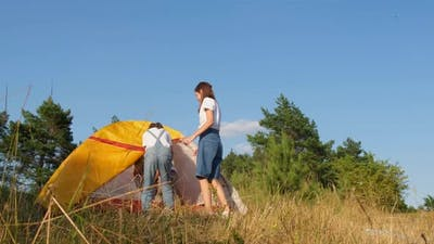School Camp on Nature Camping Outdoors