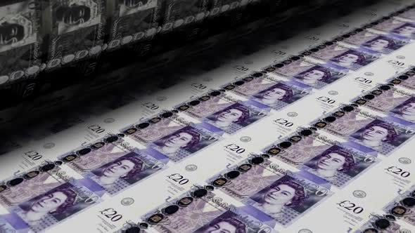 Thumbnail for Printing Money Pound Sterling Banknotes