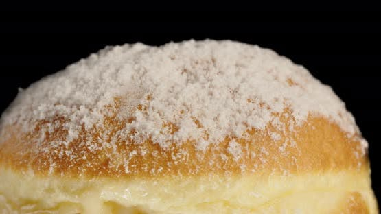 Soft Donut Sprinkled With Powdered Sugar