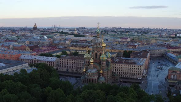 Thumbnail for Saint Petersburg Russia Morning City Aerial 151