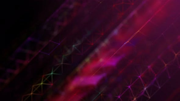 Thumbnail for Colorful Plexus Background Seamless Loop 3