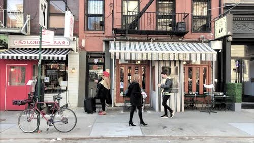 Zooming into a Restaurant in Little Italy NoLita NYC