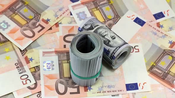 Thumbnail for Rotating Hundred Dollar And Euro Banknotes 3