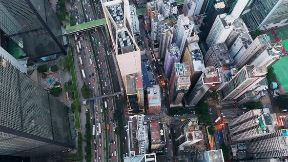 Thumbnail for Aerial view Hong Kong business district
