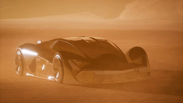 Thumbnail for Supercar at Sunset in Desert
