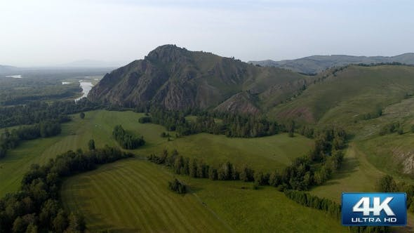 Thumbnail for Aerial View on Summer Siberian Landscape