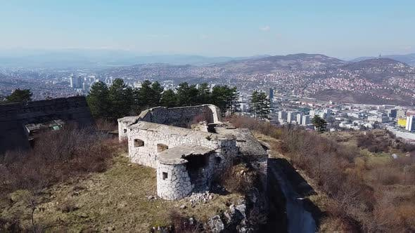 Thumbnail for Aerial Shot Of Abandoned Buildings   2
