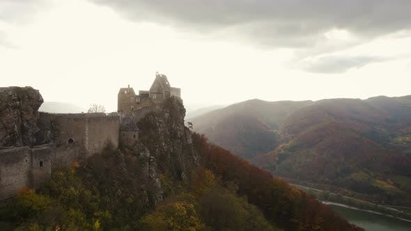 Thumbnail for Evening View Of Aggstein Castle Ruins