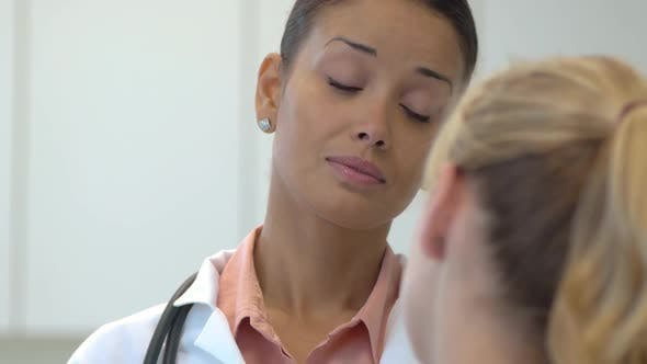 Thumbnail for Female doctor talking with patient