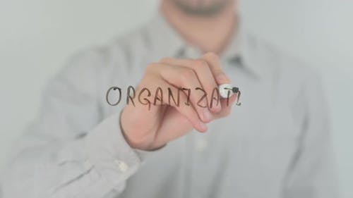 Organization Writing on Screen with Hand
