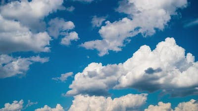 Blue sky and white clouds, time-lapse