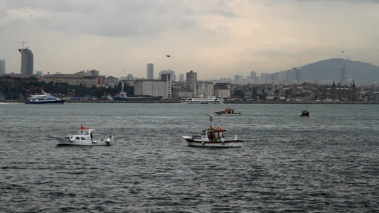 Cover Image for Fishing Boats in Bosphorus 02