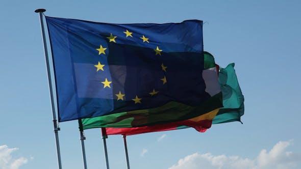 Thumbnail for Granada Flags On Flag Poles