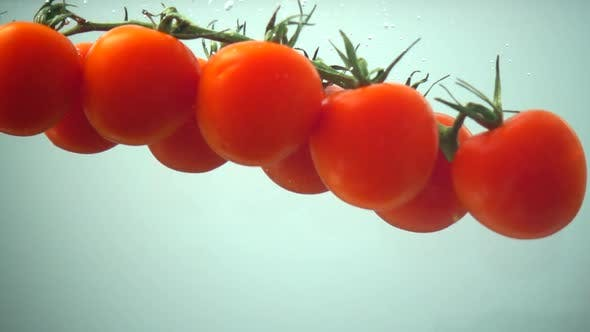 Thumbnail for The Falling Cherry Tomatoes in Water