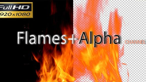Flammen mit Alpha-Kanal