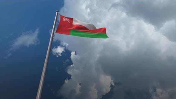 Oman Flag Waving 4k