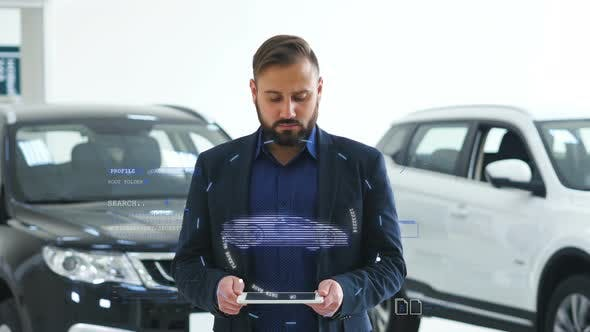Thumbnail for A Man Holds a Hologram of the Car
