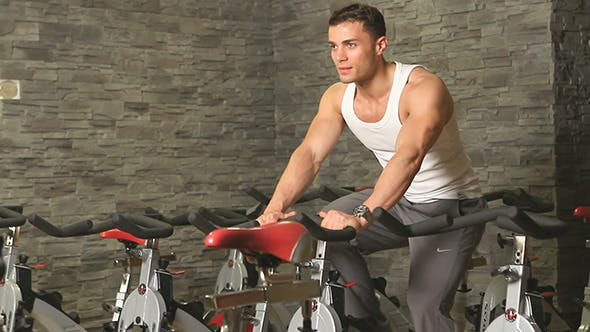 Thumbnail for Athletic Male Doing Bike Exercises