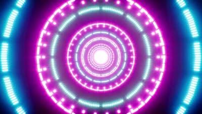 VJ Circle Neon Light Loop