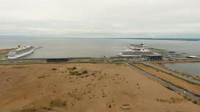 Ocean Liner in Seaport