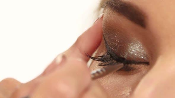 Thumbnail for Female Eye with Long Eyelashes. Close Up