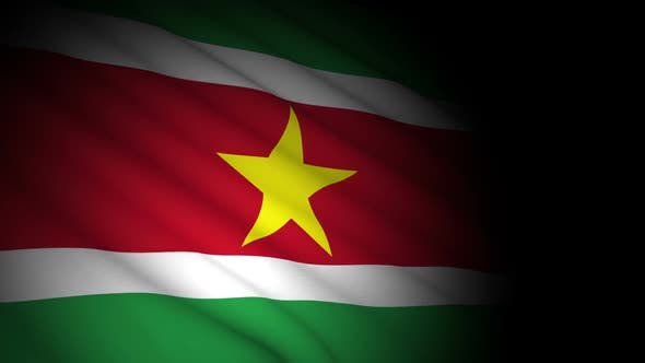 Cover Image for Suriname Flag Blowing in Wind
