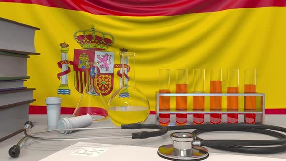 Thumbnail for Clinic Laboratory Equipment on Spanish Flag Background