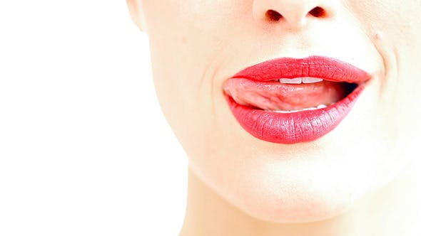 Thumbnail for Close Up on Woman's Sexy Red Lips