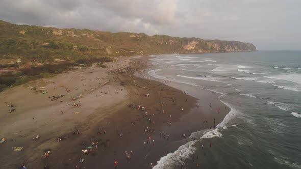 Thumbnail for Sandy Beach Near the Ocean Yogyakarta