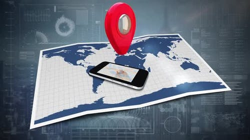 Cellular phone and map