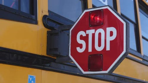School Bus Stop Paddle Extends