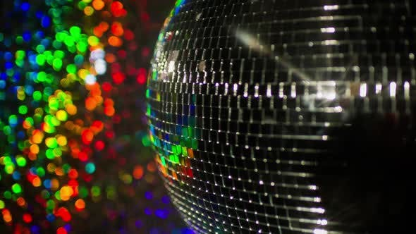 Thumbnail for Colourful discoball mirrorball glitterball party disco music club rave
