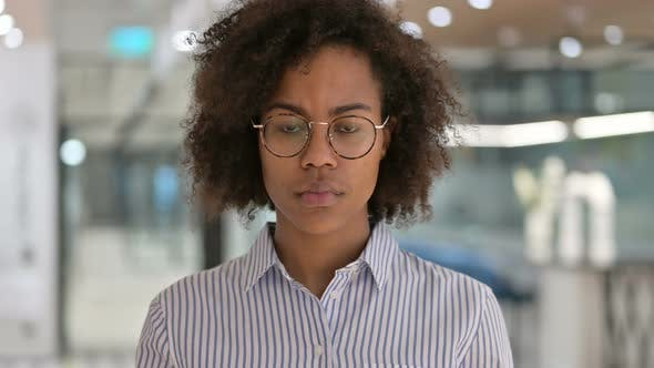 Thumbnail for Sad African Businesswoman Crying at Camera