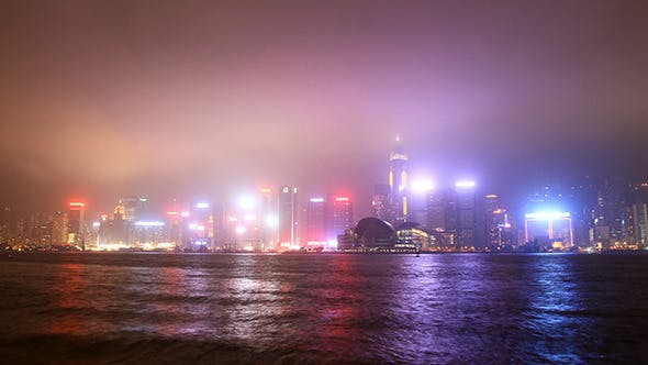 Cover Image for Time Lapse of Hong Kong Harbour at Night