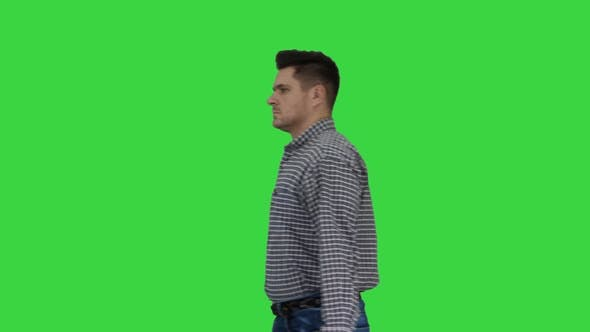 Thumbnail for Professional Repairman Concept Handyman Walking with Tool Case on a Green Screen, Chroma Key.