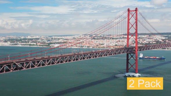 Thumbnail for Lisbon 25th of April Bridge (2-Pack)