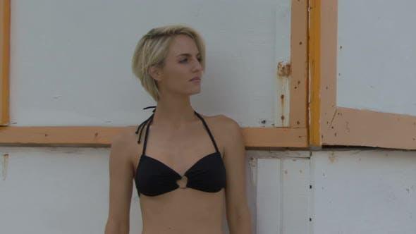 Thumbnail for Portrait of female wearing a bikini