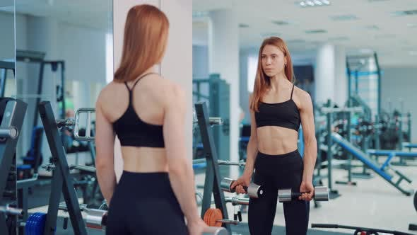 Beautiful Woman in the Gym