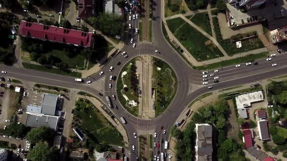 Thumbnail for Top Down Aerial View Of Circular Shaped Highway
