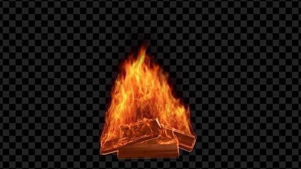 Thumbnail for Burning  3D Bonfire