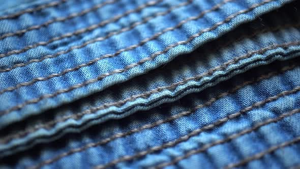 Thumbnail for Denim Fabric Texture And Stitching