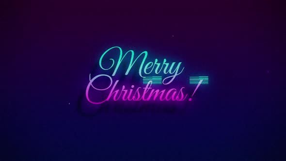 Thumbnail for Merry Christmas Retro Glitch