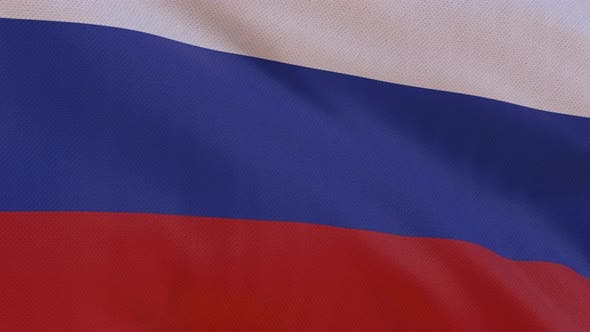 Thumbnail for Russia Flag 4K Seamless Loop
