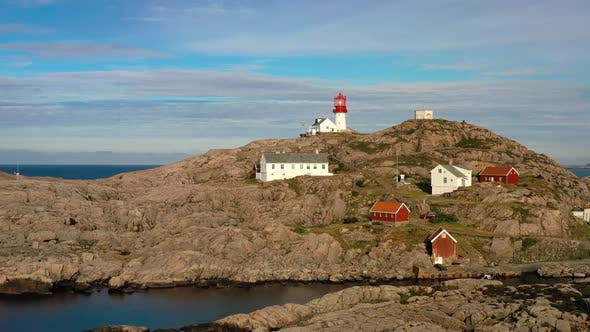 Cover Image for Coastal Lighthouse. Lindesnes Lighthouse Is a Coastal Lighthouse at the Southernmost Tip of Norway.